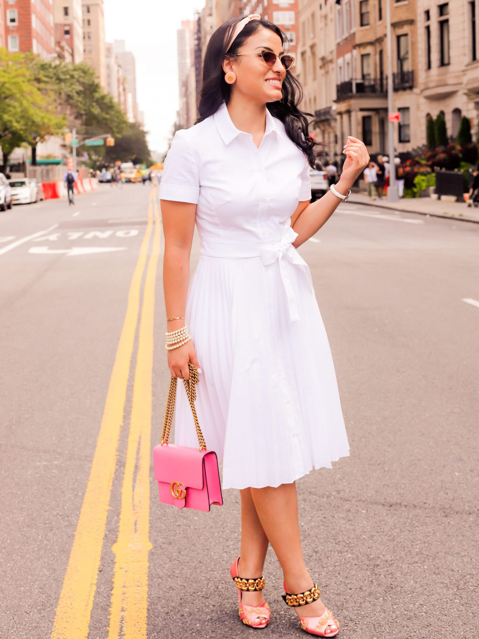 62e9f40c2406 Gucci Marmont Gg Small Leather Pink Shoulder Bag (Tradesy)